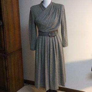 Vintage Oscar de la Renta Gray Cashmere? Dress